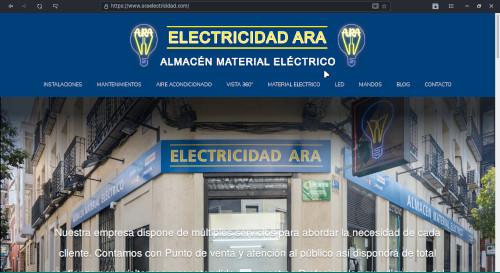 DISEÑO WEB - ARA ELECTRICIDAD