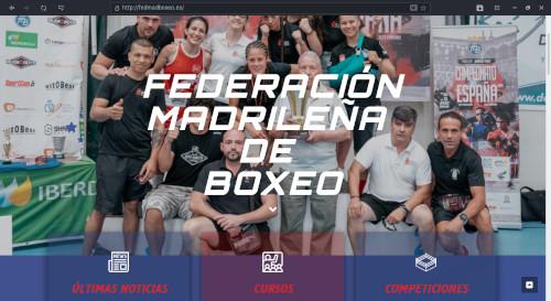 DISEÑO WEB - FEDERACION MADRILEÑA DE BOXEO