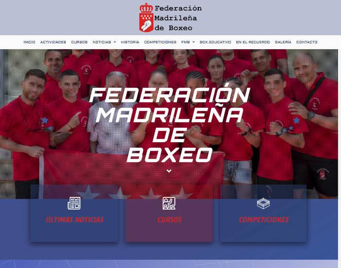 Federación Madrileña de Boxeo Diseñada por MundoPixel.Es