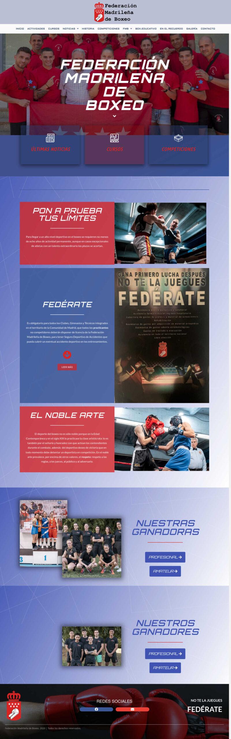 Federación Madrileña de Boxeo - fedmadboxeo.es