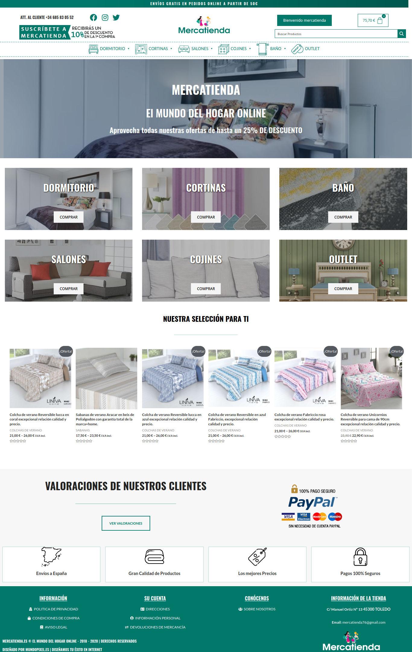 Mercatienda.es – El Mundo del Hogar Online - mercatienda.es